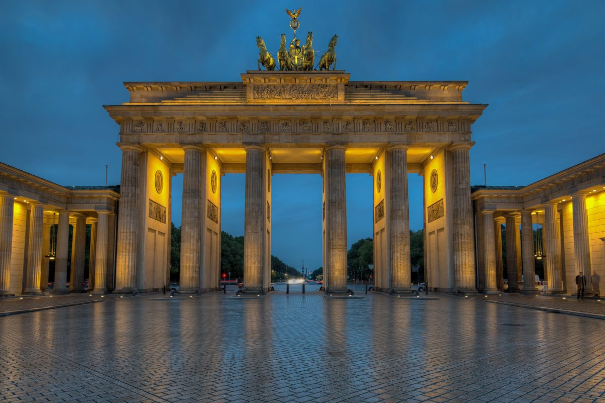 Berlin Brandenburg Gate. I was hoping to catch the sunrise coming up through the colums, but the weather wasn't accomodating. maybe next year.